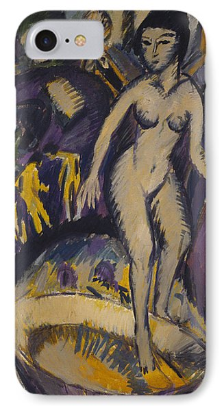 Female Nude With Hot Tub Phone Case by Ernst Ludwig Kirchner