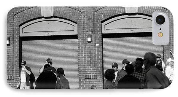 Fenway Park - Fans And Locked Gate Phone Case by Frank Romeo