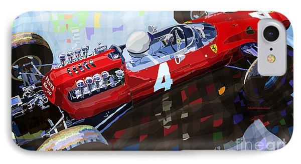 1965 Ferrari 158 F1 Dutch Gp Lorenzo Bondini IPhone Case by Yuriy  Shevchuk