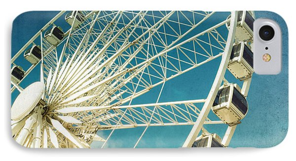 Cross iPhone 7 Case - Ferris Wheel Retro by Jane Rix