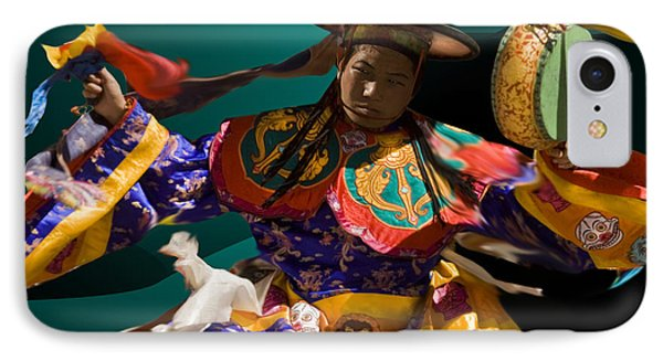 IPhone Case featuring the digital art Festival In Bhutan by Angelika Drake