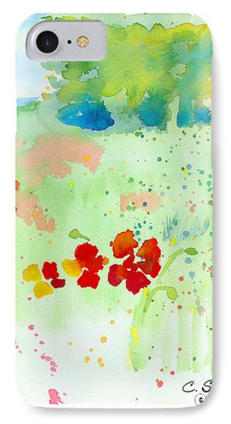 IPhone Case featuring the painting Field Of Flowers by C Sitton