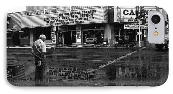 Film Noir Jules Dassin Richard Conte Thieves' Highway Rain Sundance West Las Vegas Nevada 1977 IPhone Case by David Lee Guss