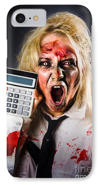 Finance Tax Accountant. Return From The Dead IPhone Case