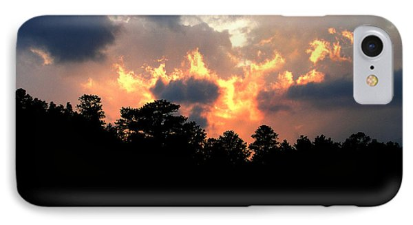 IPhone Case featuring the photograph Fire In The Sky by Craig T Burgwardt