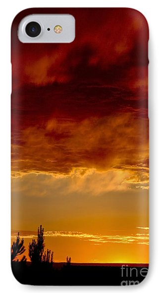 IPhone Case featuring the photograph Fire In The Sky by Gina Savage