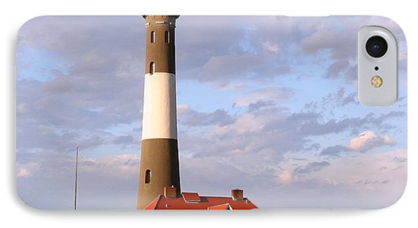 IPhone Case featuring the photograph Fire Island Lighthouse by Karen Silvestri