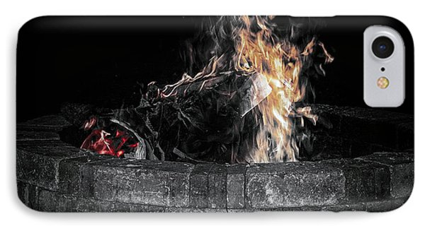 Fire Pit IPhone Case by J Riley Johnson