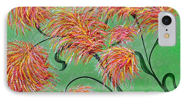 IPhone Case featuring the painting Fireworks by Alys Caviness-Gober