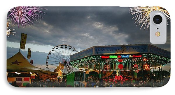Fireworks At An Amusement Park Phone Case by Darren Greenwood