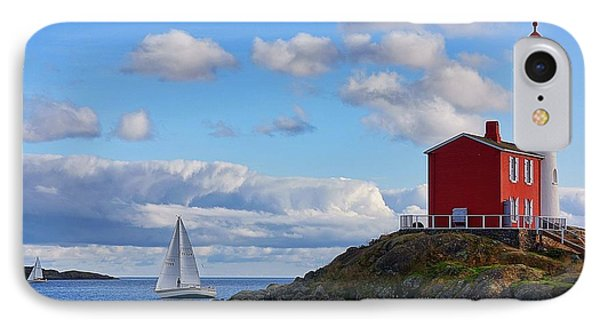 Fisgard Lighthouse IPhone Case by Keith Boone