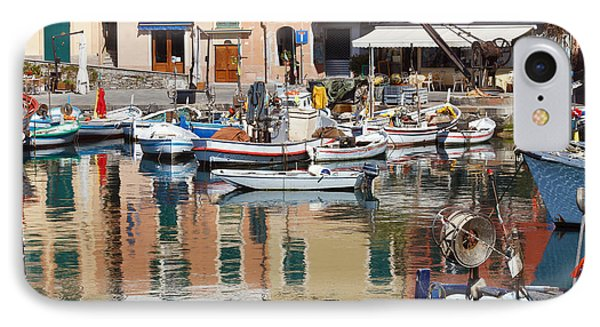 IPhone Case featuring the photograph fishing boats in Camogli  by Antonio Scarpi