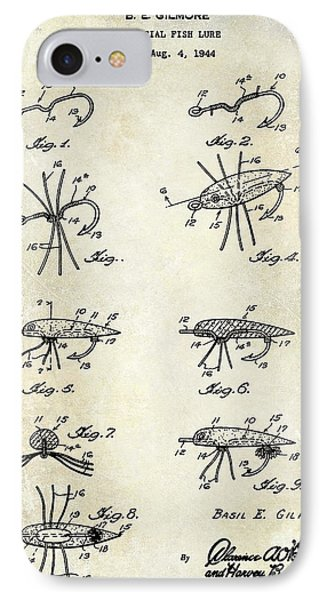 1949 Fishing Lure Patent Drawing IPhone Case