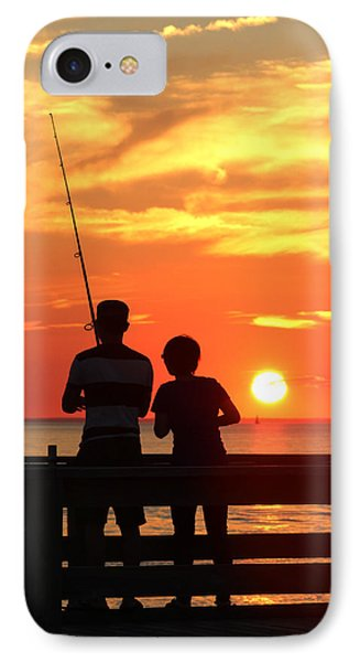 Fishing Pier Mount Sinai New York  IPhone Case