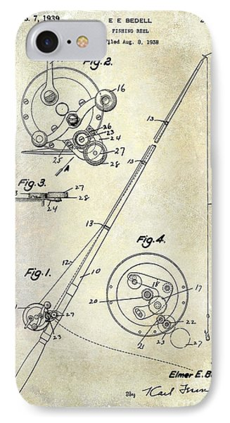 Fishing Reel Patent 1939 IPhone Case