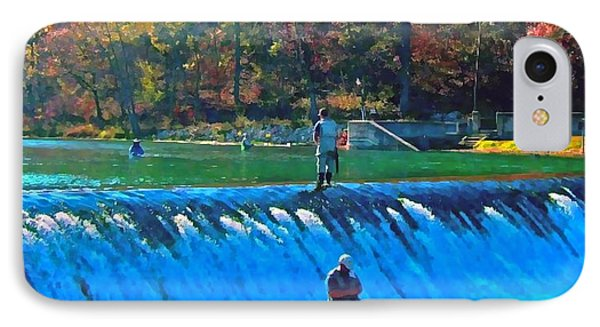Fishing The Spillway IPhone Case