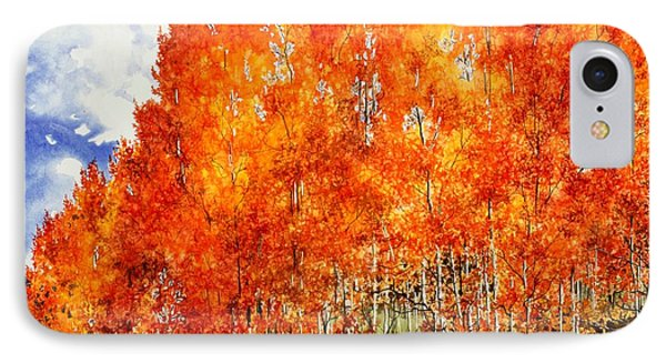 IPhone Case featuring the painting Flaming Aspens 2 by Barbara Jewell