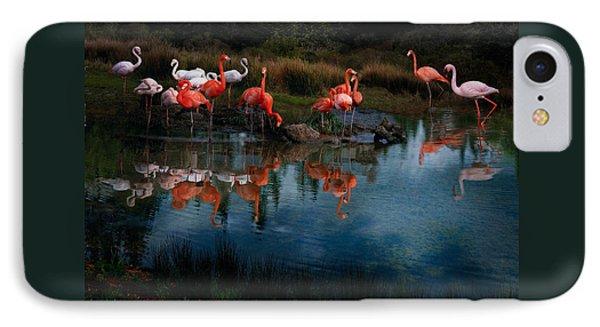 Flamingo Convention Phone Case by Melinda Hughes-Berland