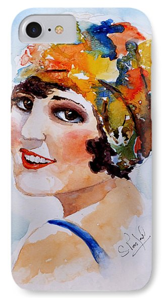 IPhone Case featuring the painting Flappers Girl by Steven Ponsford