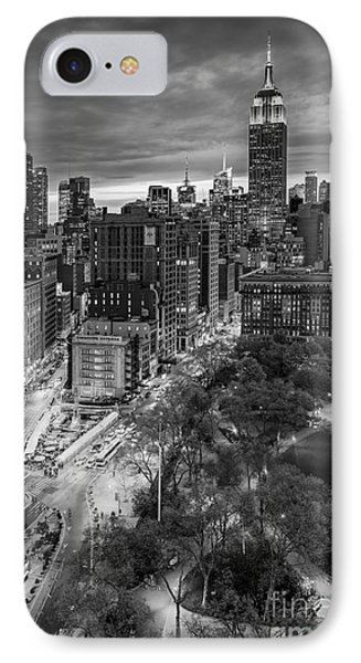 Flatiron District Birds Eye View IPhone Case by Susan Candelario