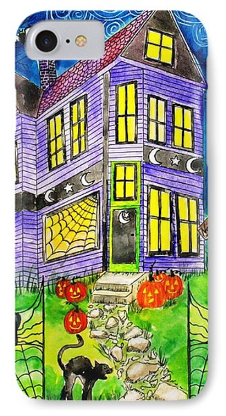 Flight Of The Moon Witch On Hallows Eve Phone Case by Janet Immordino