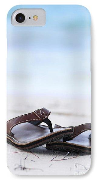 Flip-flops On Beach IPhone Case by Elena Elisseeva