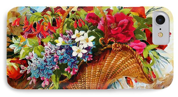 Floral 11 IPhone Case by Mahnoor Shah