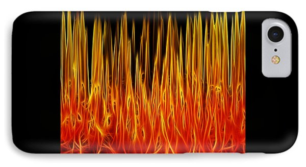 Floral Flames IPhone Case by Kaye Menner