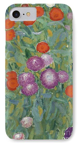 Flower Garden IPhone Case by Gustav Klimt