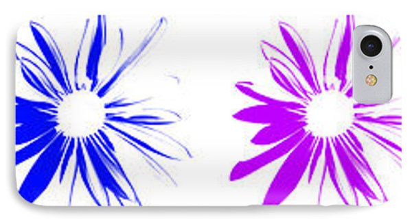 IPhone Case featuring the digital art Flowers On White by Maggy Marsh