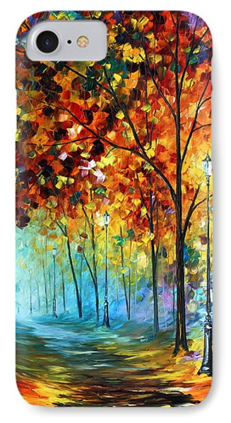 Fog Alley IPhone Case by Leonid Afremov