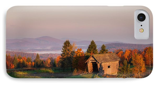 Fog In The Valley IPhone Case by Michael Blanchette
