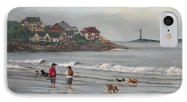 Fog Rolling In On Good Harbor Beach IPhone Case by Eileen Patten Oliver