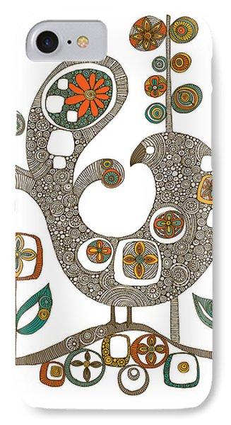 Folk Bird IPhone Case by Valentina Ramos