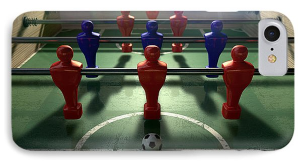 Foosball Table IPhone Case by Allan Swart