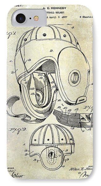 1927 Football Helmet Patent IPhone Case by Jon Neidert