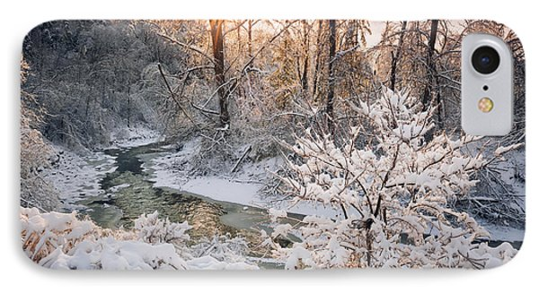 Forest Creek After Winter Storm IPhone Case