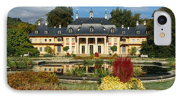 Formal Garden In Front Of A Castle IPhone Case