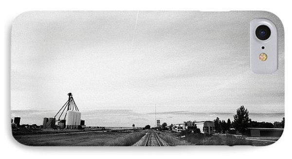 former canadian pacific railway now great sandhills railway through leader Saskatchewan Canada IPhone Case by Joe Fox
