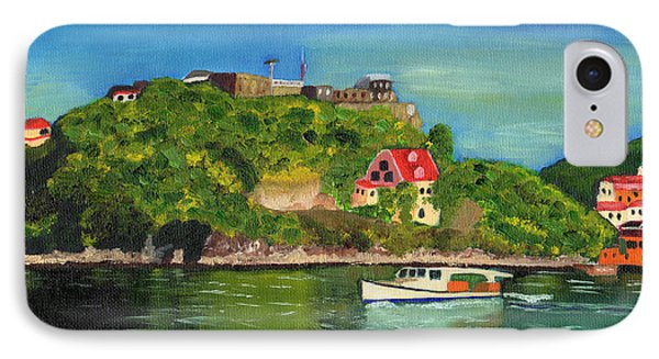IPhone Case featuring the painting Fort George Grenada by Laura Forde