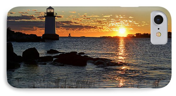 Fort Pickering Lighthouse Winter Island Salem Ma Sunrise IPhone Case by Toby McGuire