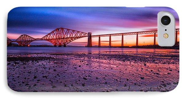 Forth Rail Bridge IPhone Case by John Farnan