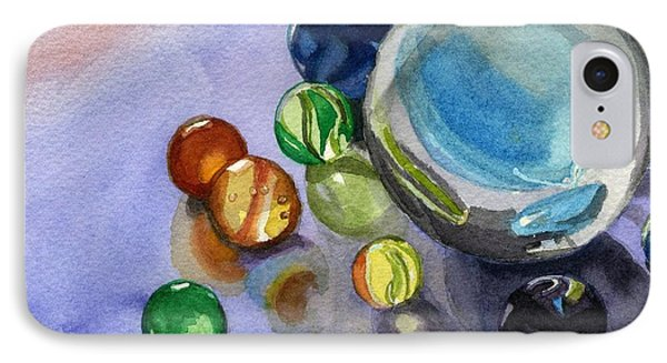 IPhone Case featuring the painting Found My Marbles by Lynne Reichhart