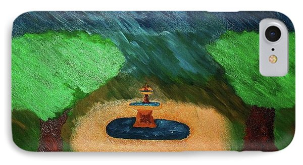 Fountain In The Midst Phone Case by Bamhs Blair