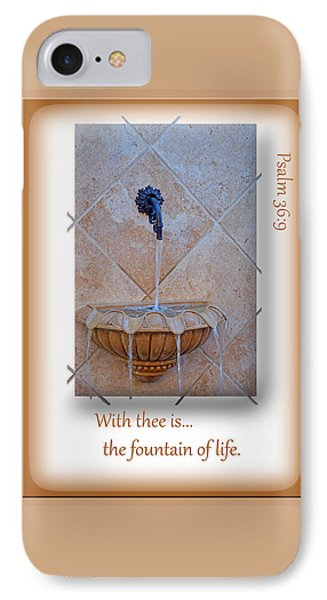 IPhone Case featuring the photograph Fountain Of Life by Larry Bishop