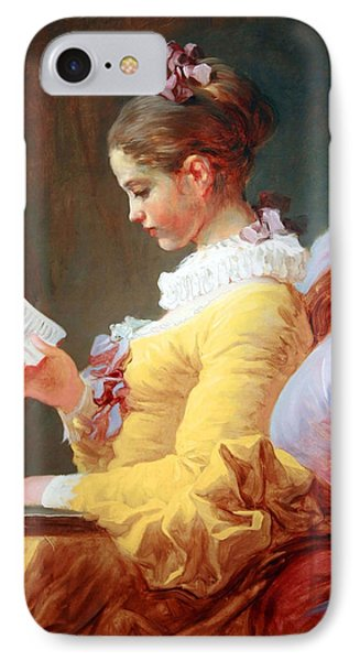 IPhone Case featuring the photograph Fragonard's Young Girl Reading by Cora Wandel