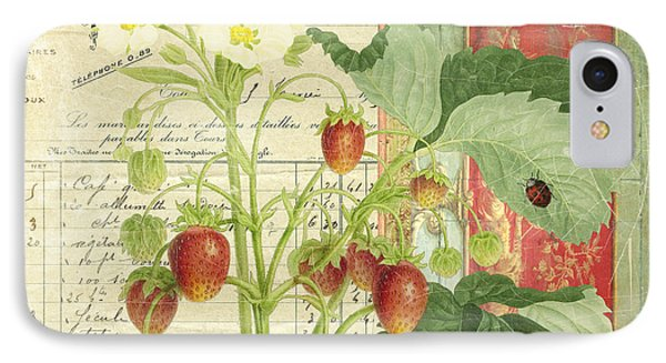 Fraise De La Creme IPhone Case by Aimee Stewart