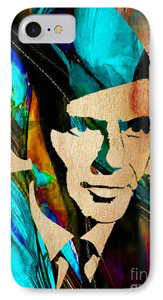 Frank Sinatra Paintings IPhone Case by Marvin Blaine