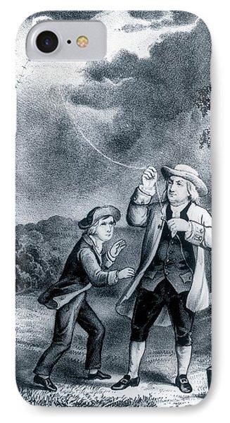 Franklin's Lightning Experiment IPhone Case