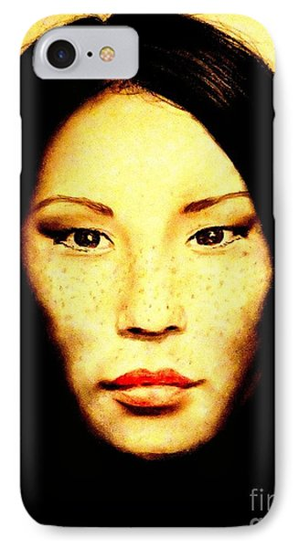 Freckle Faced Beauty Lucy Liu  Phone Case by Jim Fitzpatrick